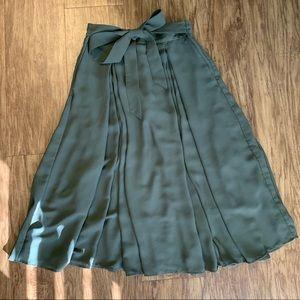 High Waist Tie Skirt